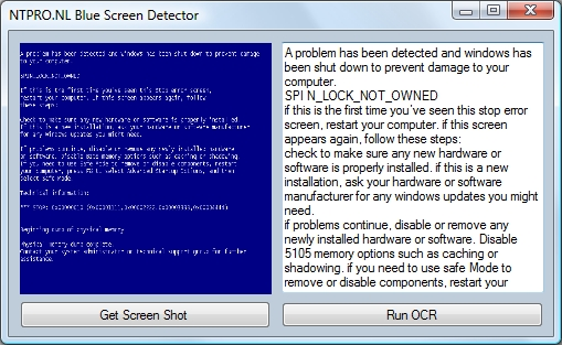 Virtual Machine Blue Screen Detector