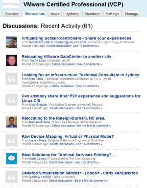 VCP LinkedIn Discussions