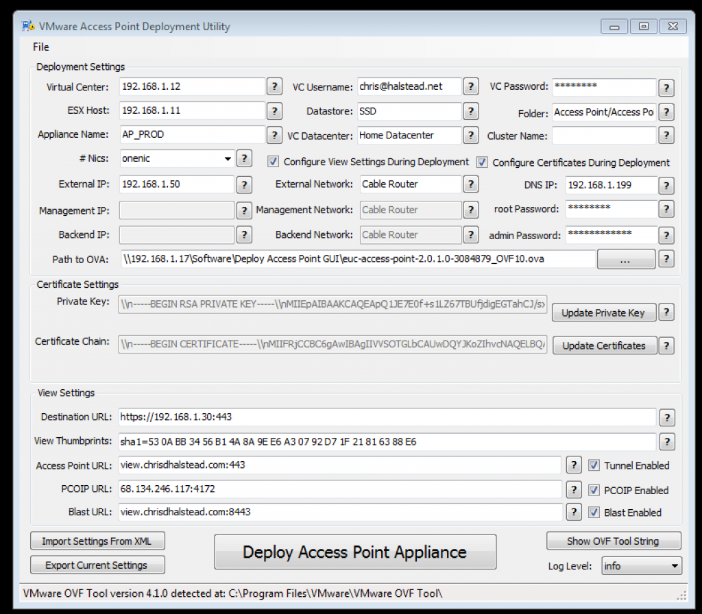 Latest Fling from VMware Labs - VMware Access Point Deployment