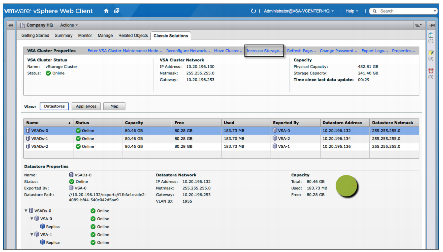 how to change network settingd in vsphere