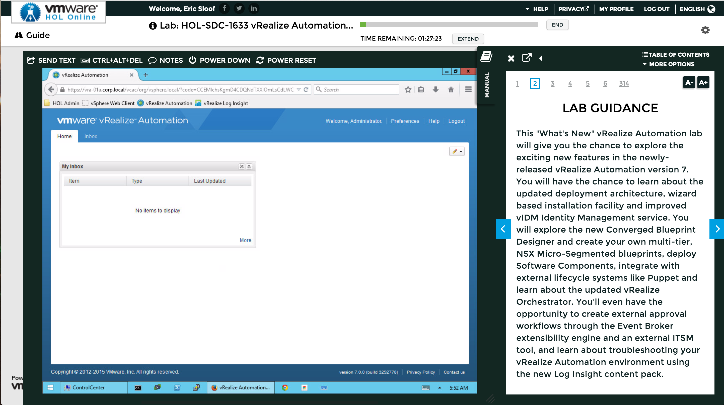 Vmware hol online has released vrealize automation 7 whats new you will explore the new converged blueprint designer and create your own multi tier nsx micro segmented blueprints deploy software components malvernweather Image collections