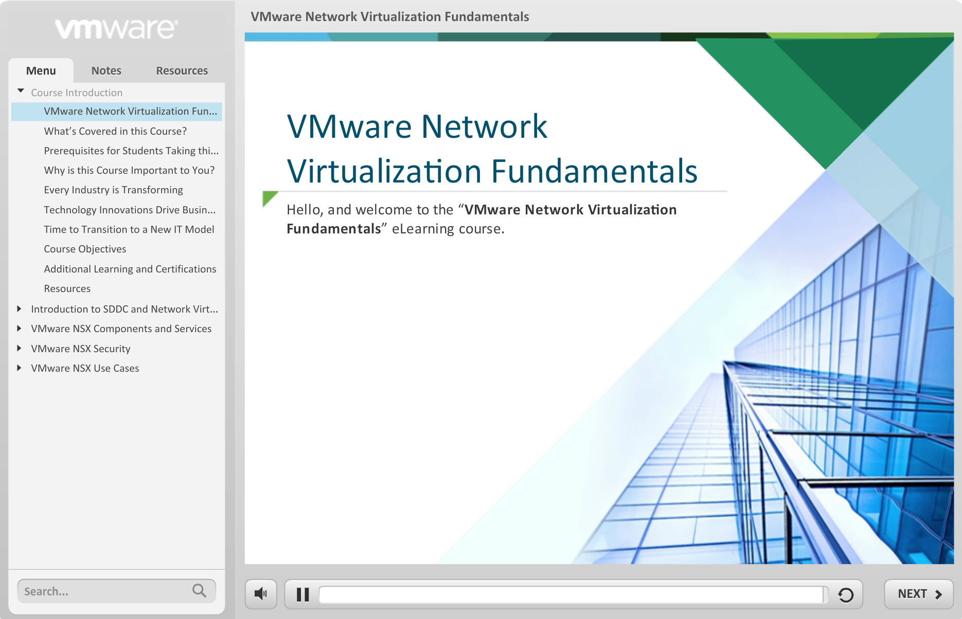 Free e-learning course - VMware Network Virtualization