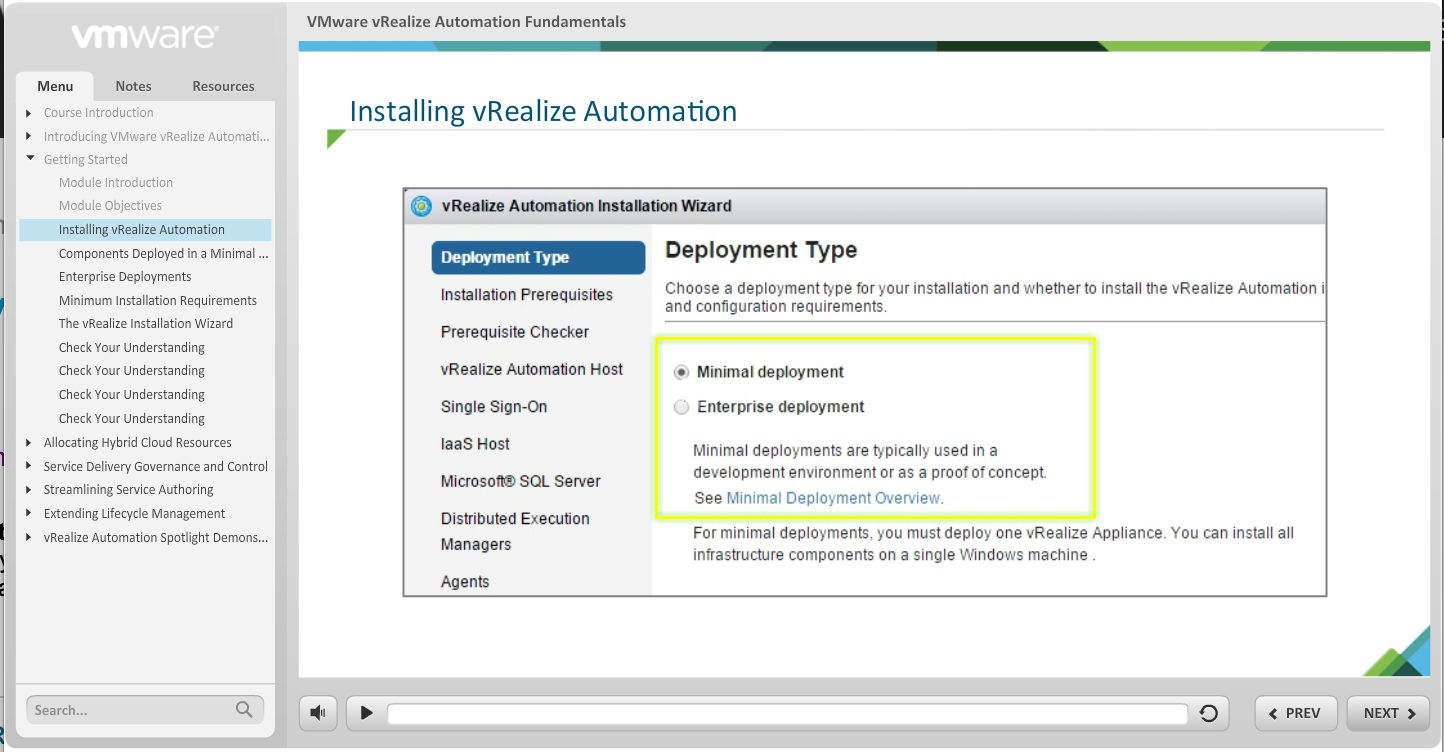 Free e-learning course - VMware vRealize Automation 7