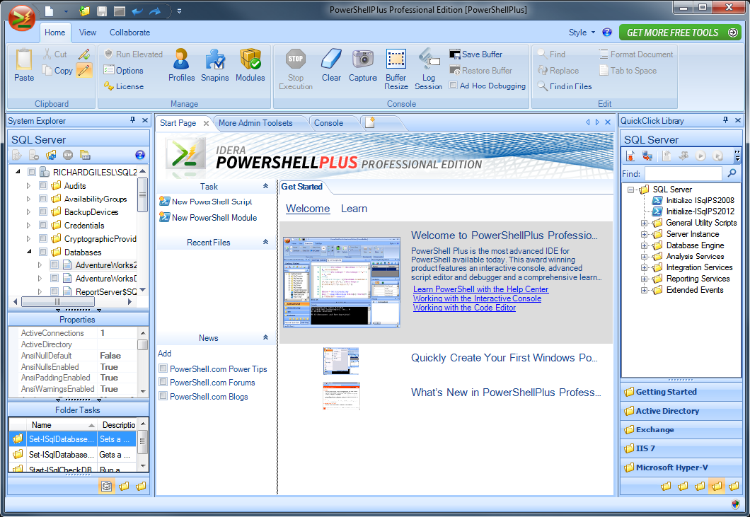 Free tool to learn and master PowerShell fast - PowerShell Plus v4 6